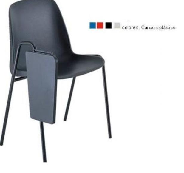 silla con pala apilable en 5 unidades modelo 100 en 4 colores