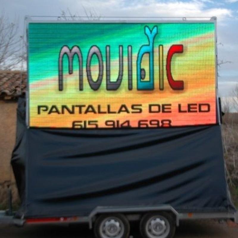 Pantalla sobre remolque: Productos y servicios de Pantallas Movidic