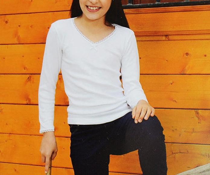 Camisetas manga larga para niñas
