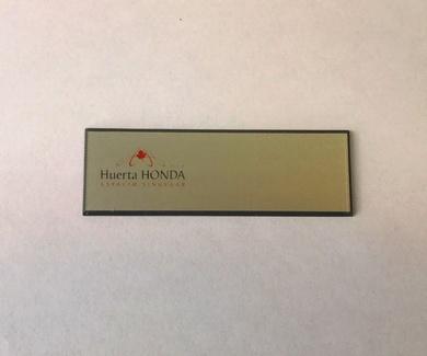 Placa de identificación de solapa