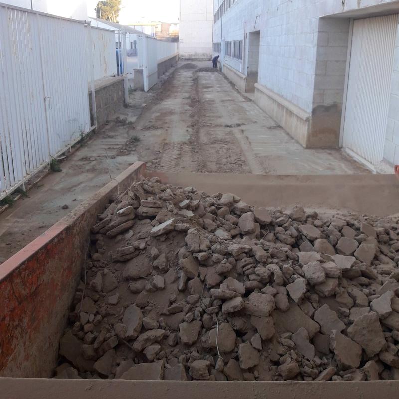 Retirada de tierra en Murcia