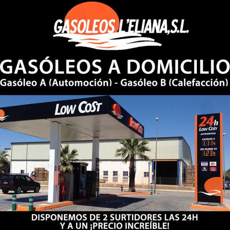 Estacion de servicio al mejor precio de la comarca : Servicios de Gasóleos L'Eliana,S.L.