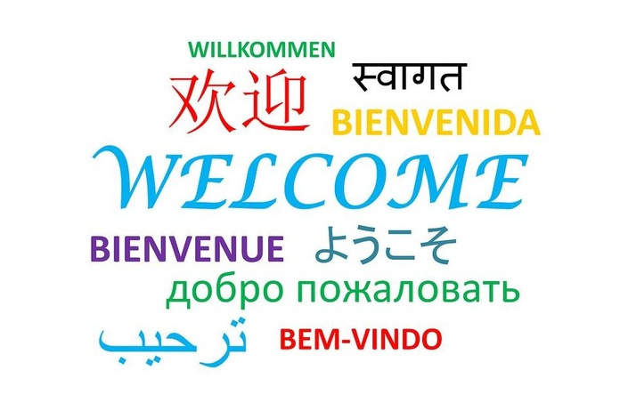 Web in different languages