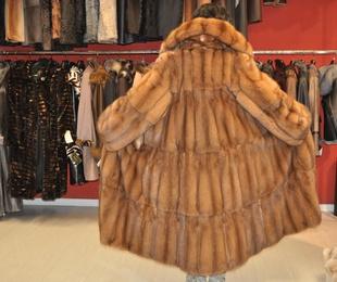 Abrigo de martas cibelinas