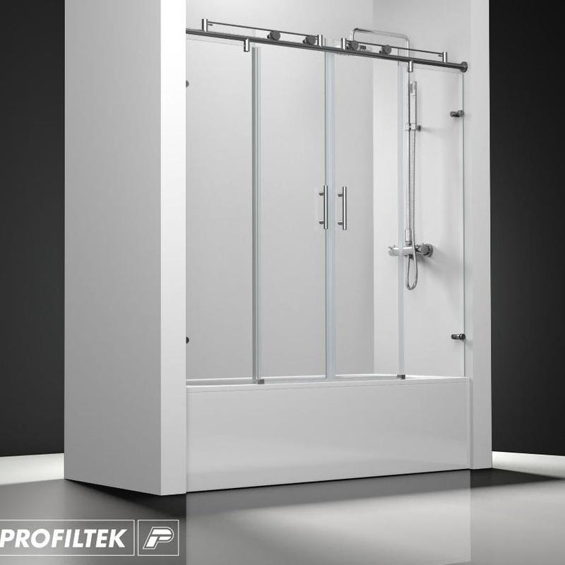 Mampara de baño Profiltek serie Steel mod. ST-125 classic