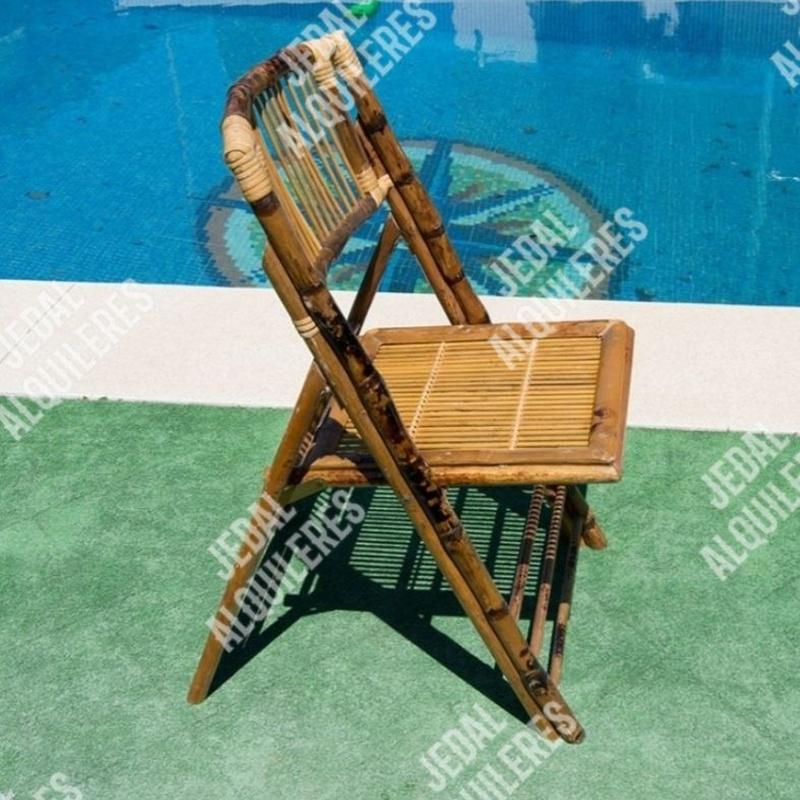 Silla bambú plegable: Catálogo de Jedal Alquileres