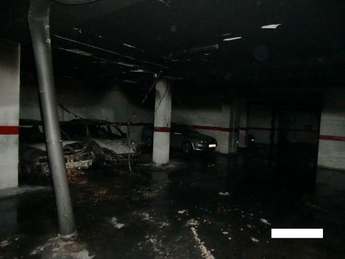 Incendio en garaje comunidad