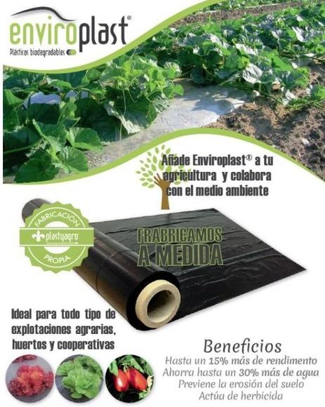 Haz tu agricultura más ECO usando plásticos biodegradables