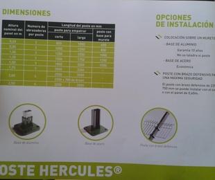 Dimensiones poste Hercules