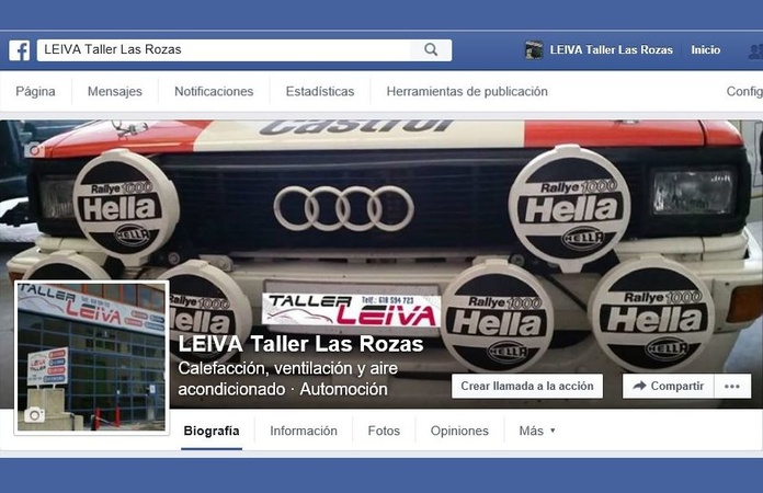 Facebook *LEIVA Taller Las Rozas*