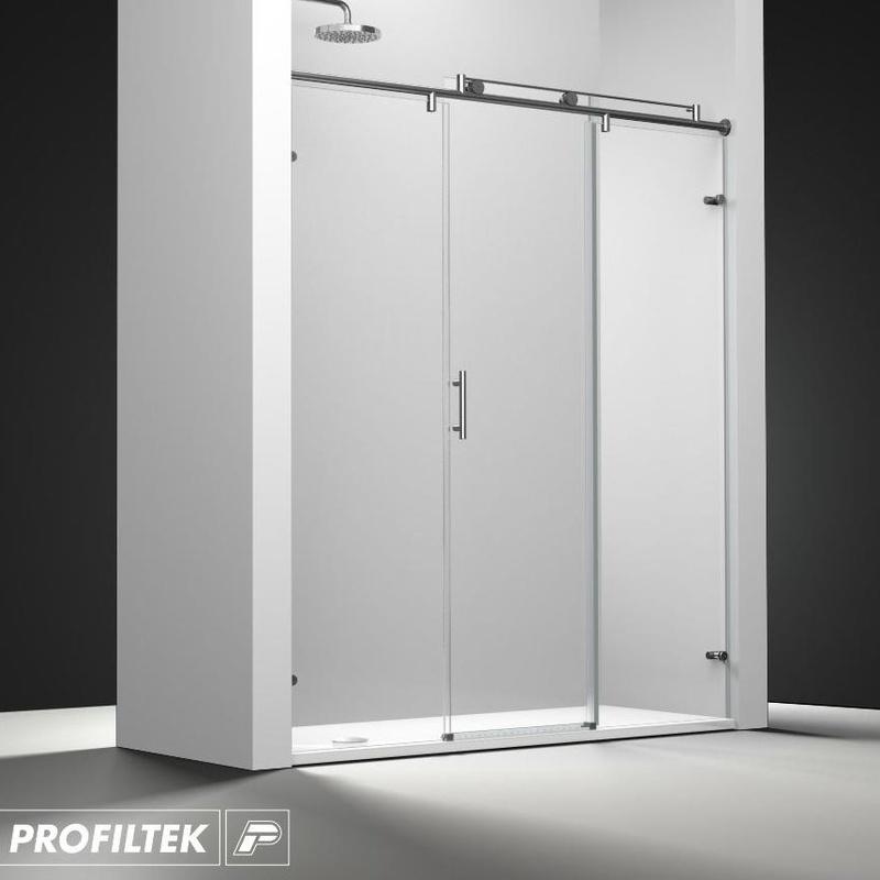 Mampara de baño Profiltek corredera serie Steel modelo ST-211 Classic