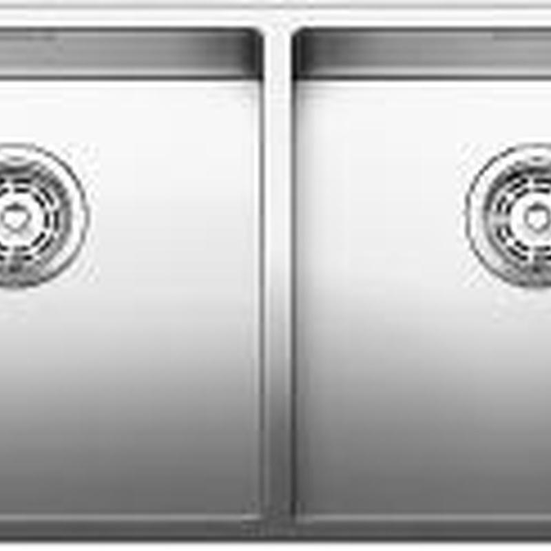 Fregaderos Blanco de acero inoxidable modelo Blanco Claron 400/400-U