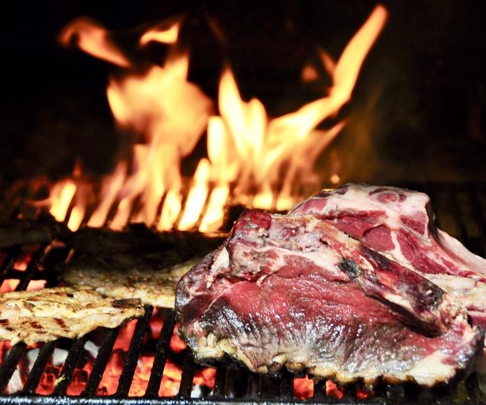 Templando la carne.