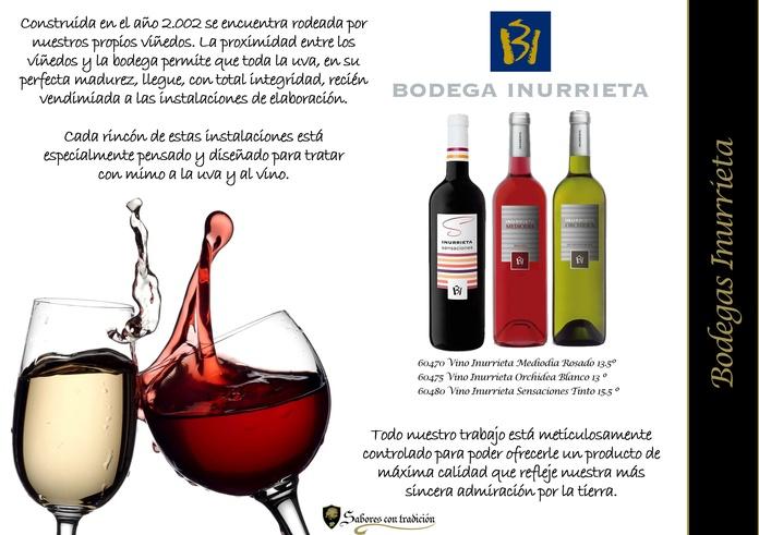 """Vinos """" Bodega Inurreta """": Productos de Sabores con tradición"""