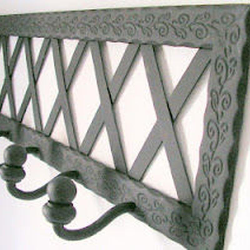 Percha Rústica cruz: Catálogo de muebles de forja de Forja Manuel Jiménez
