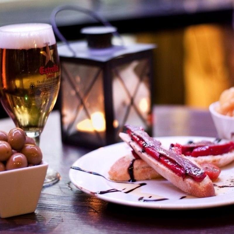 Menú degustación: Menús y Carta de El Cauce Cánovas Tapas & Bar