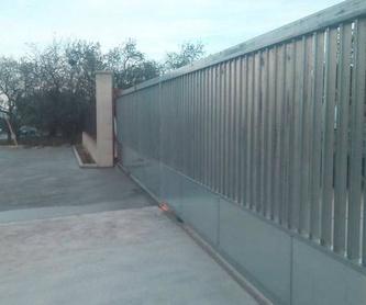 Compuerta hidráulica: Automatismos y puertas de Tecnomat Puertas Metálicas