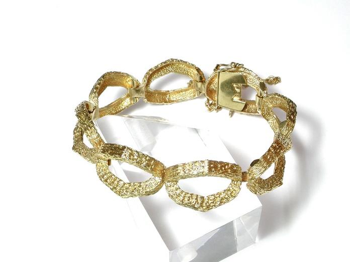 Pulsera de eslabones ovales en oro de 18k. Moderna.: Catálogo de Antigua Joyeros