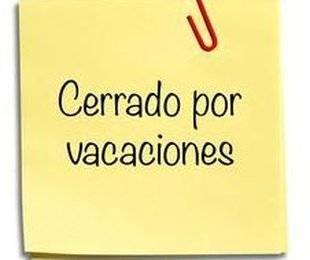 Cerrado por vacaciones del 12 al 21 de Noviembre de 2019