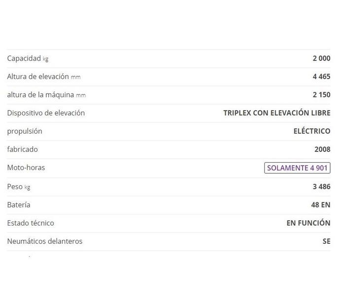 CARRETILLA ELEVADORA STILL RX20-20P: CATÁLOGO de HP Elevación