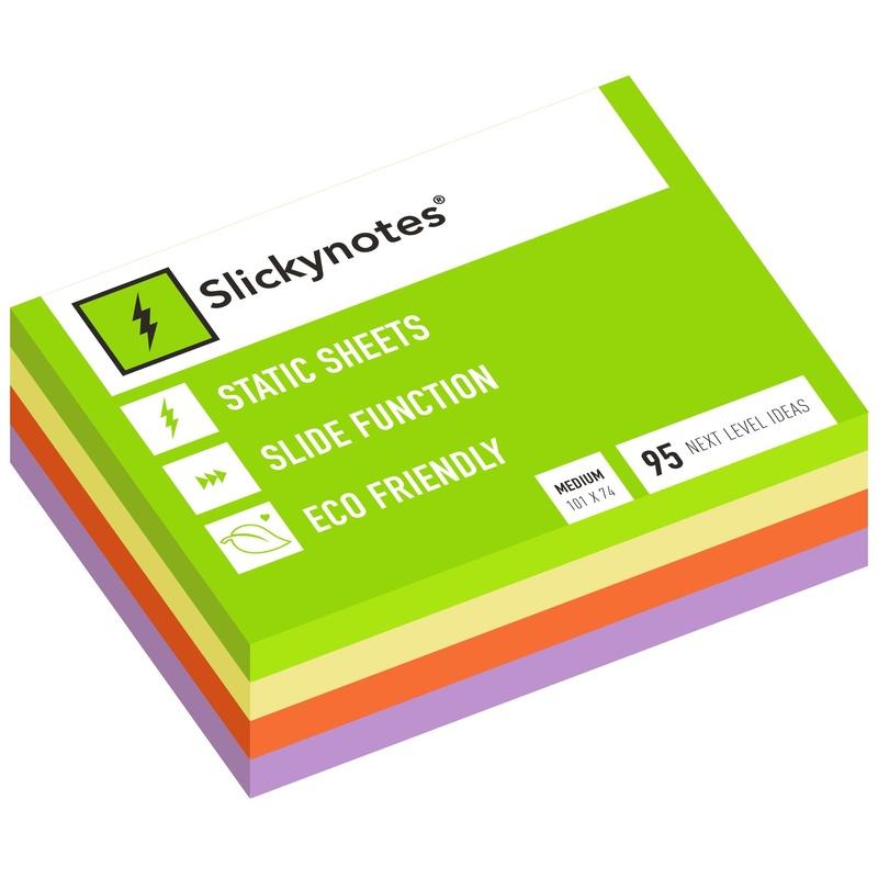 MN4-100 - Pack 34 Slickynotes 101x74 mm Colores: Productos y Servicios de Rosan