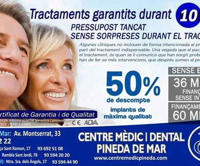 Primera consulta gratis clínica dental PIneda del Mar