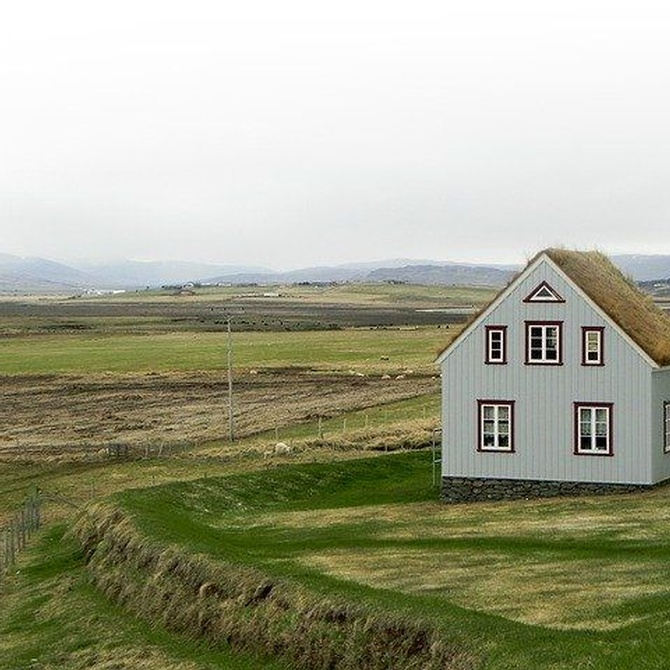 Las ventanas de aluminio en las casas rurales