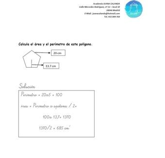 Ejercicio de Matemáticas - Perímetro y Área