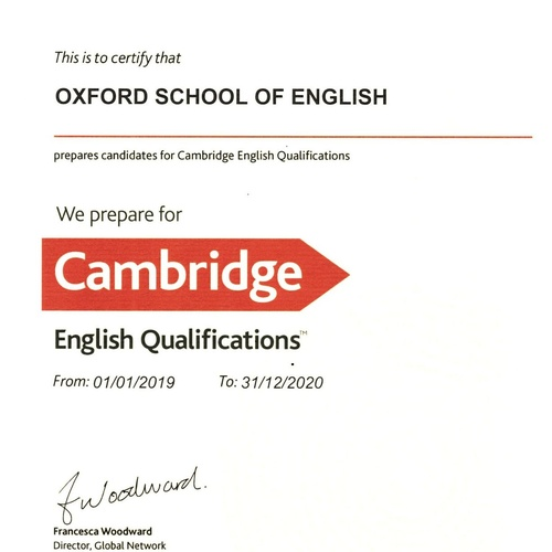 Certificado Cambridge Assessment English