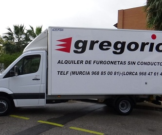 VANS OF 7/8 CUBIC METRES: Catalogue de Gregorio Rent of Vans without driver