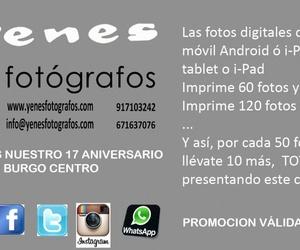 Promoción impresión 17º Aniversario de Yenes Fotógrafos