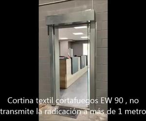 Cierres guillotinas y cortina textil cortafuegos en Paterna