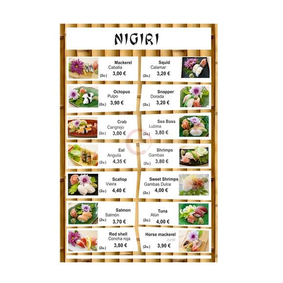 Sushi nigiri: Carta y menú de Restaurante Teppanyaki Kazuki