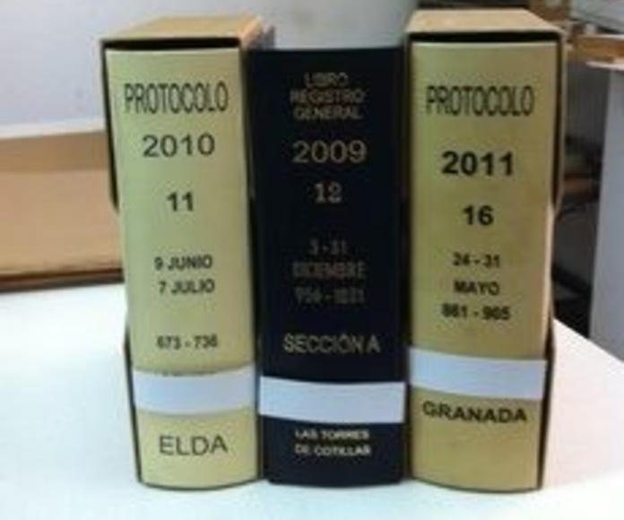 ENCUADERNACION PROTOCOLO Y LIBRO REGISTRO GENERAL: Catálogo de Encuadernaciones del Sureste