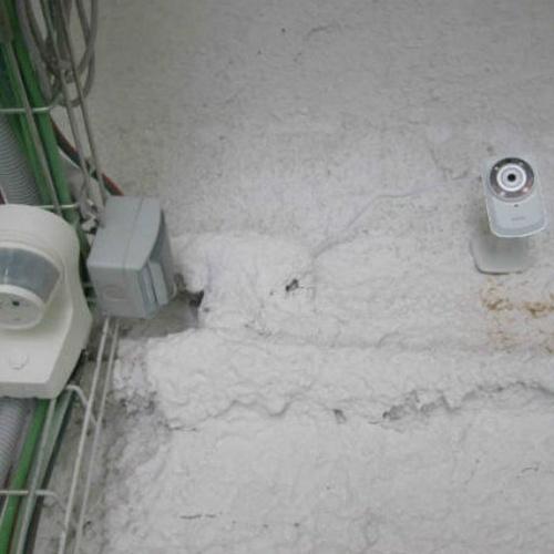 Instalaciones con detectores de intrusión y detectores de incendios