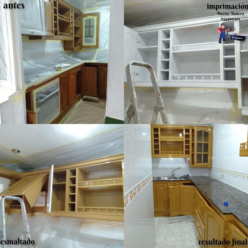 Fotos de esmaltado de muebles de cocina: Servicios de DOCTOR BAÑERA RESTAURACIONES FIVE STARS
