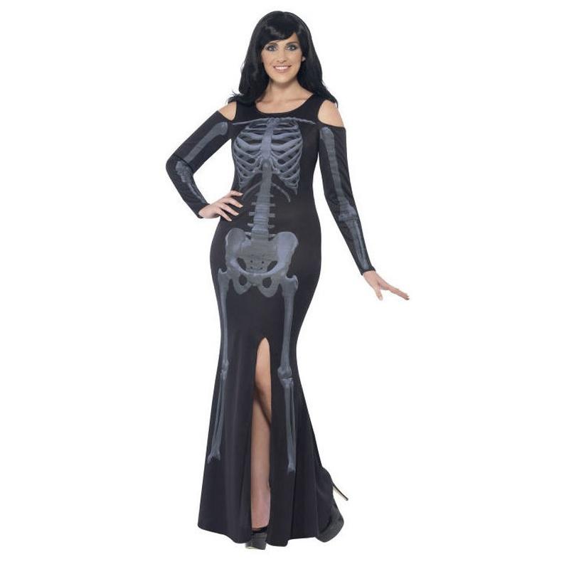 Disfraz vestido esqueleto mujer