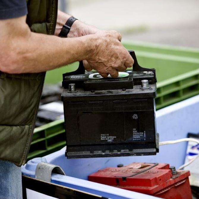 El reciclaje de la batería del coche