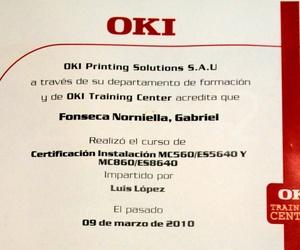 Certificado de instalación