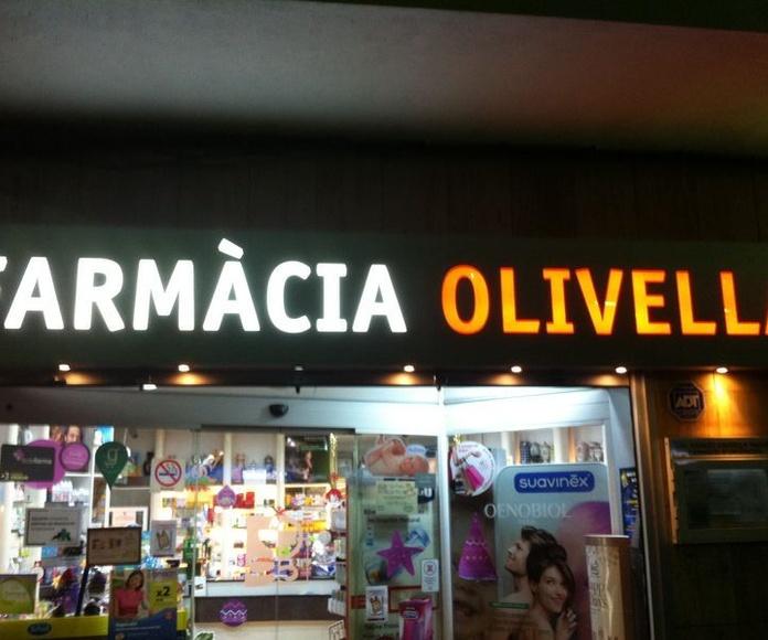 Otros servicios especiales: Productos y Servicios de Farmàcia  Olivella