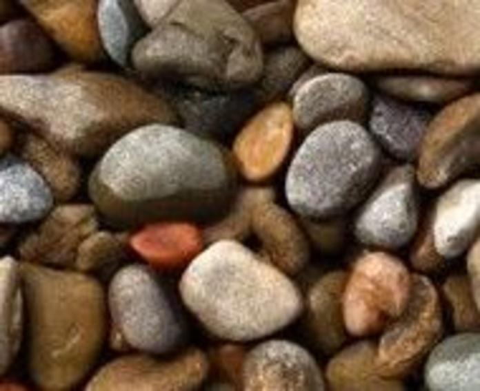 Canto rodado color gris río