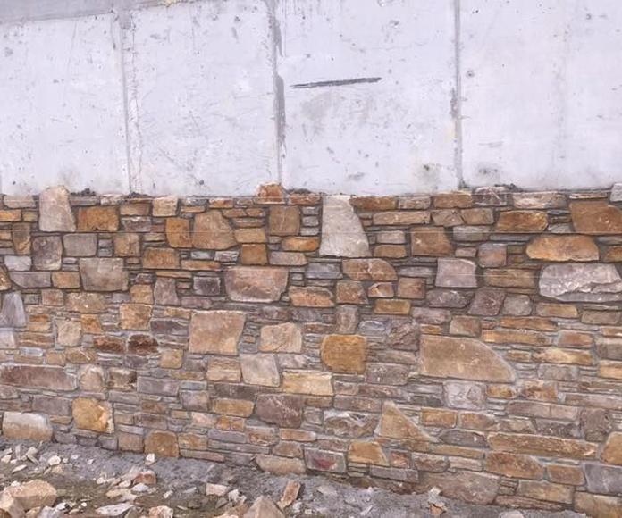 Decoración de fachadas: Servicios de Colocación de Piedra O Pego