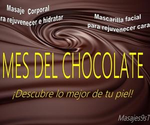 Promoción mes de mayo 2019 Mes del Chocolate en Masajes 9s TRCD
