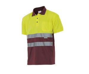 Polo bicolor manga corta alta visibilidad (ref: 173, varios colores)