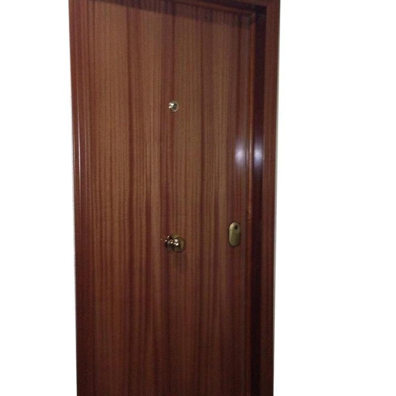 Puerta blindada.