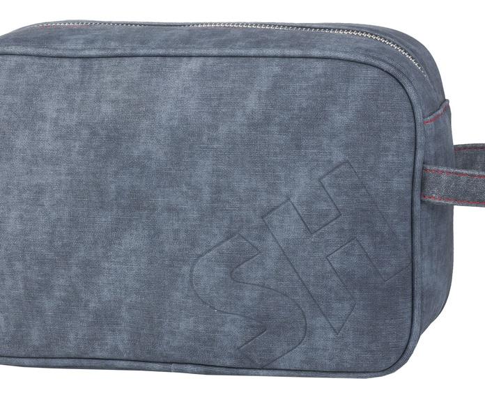 Bolsa de aseo azul grabado caballero