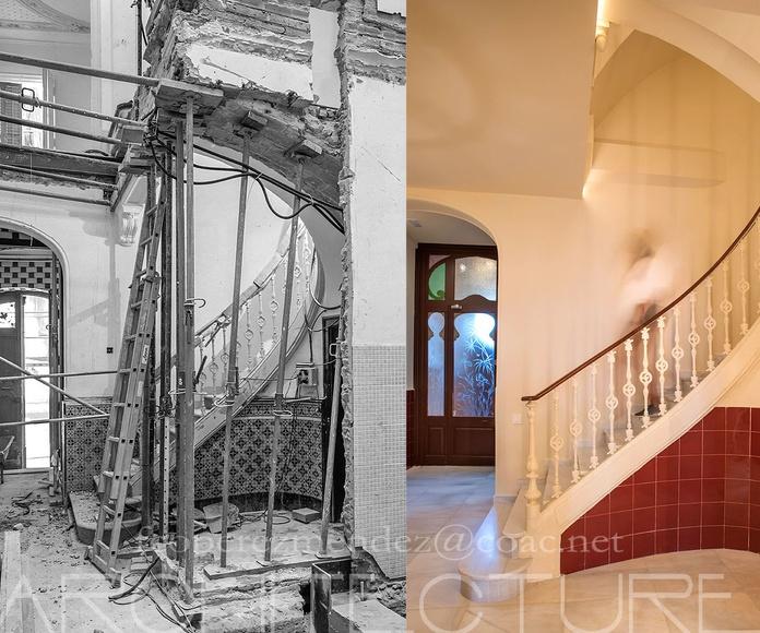 Casa Antonio Serra, Escalera Principal , Francisco Perez Mendez 2015