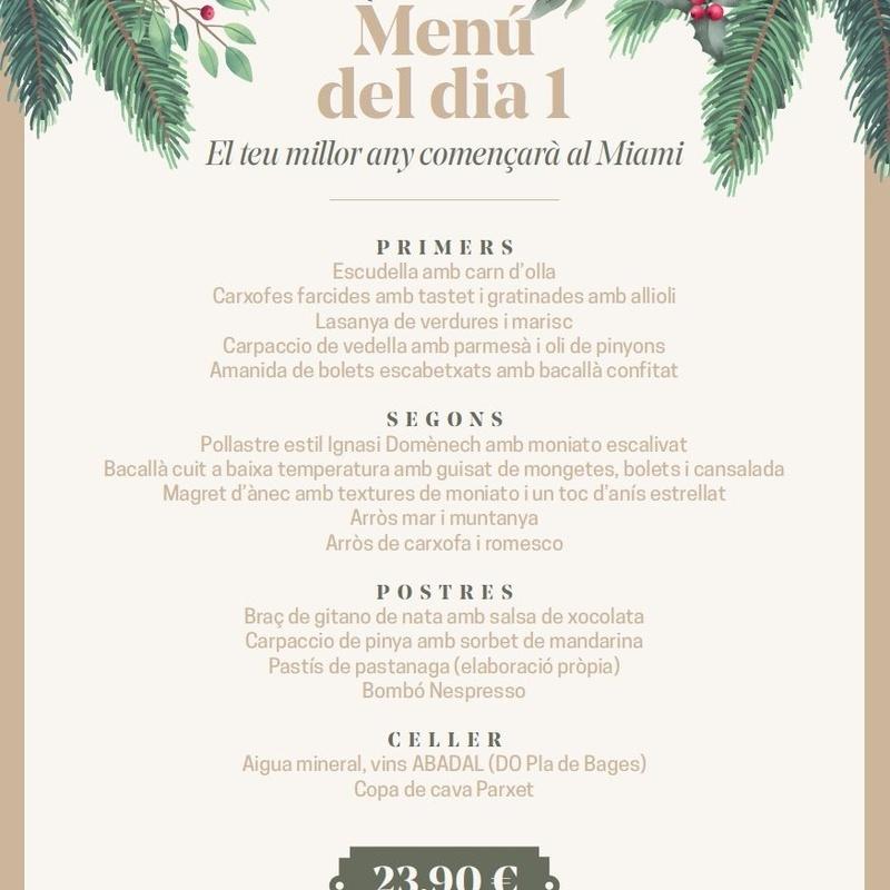 Menú Año Nuevo: Carta y Menús de Restaurant Miami