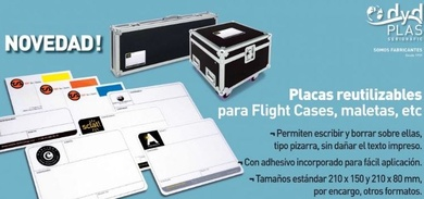 Placa para Flight Cases