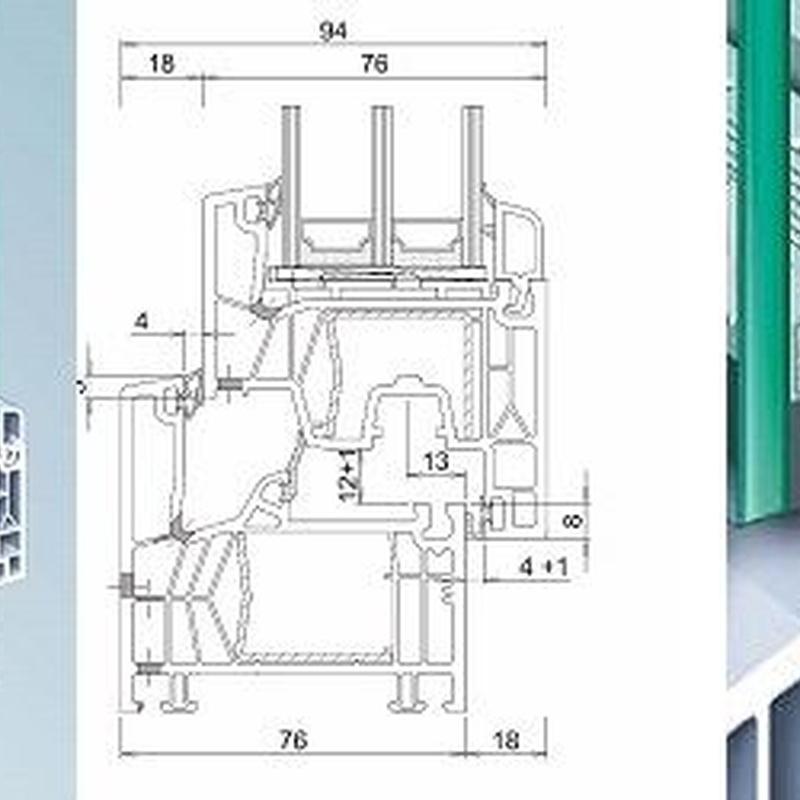 Serie Kommerling 76: Productos de Lavín Decoraciones y Montajes, S.L.